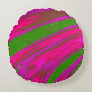 Almofada Redonda Abstrato brilhante da abanada da cor cor-de-rosa e