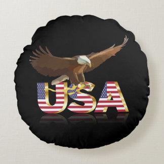 Almofada Redonda Águia americana