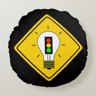 Almofada Redonda Ampola do sinal de trânsito adiante