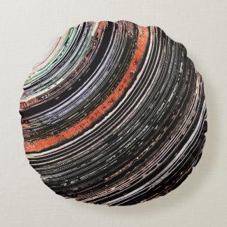 Almofada Redonda Anéis estruturais do tom da terra