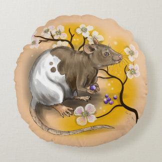 Almofada Redonda Ano chinês do zodíaco do rato