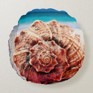 Almofada Redonda Areia das ondas de Shell do mar do oceano das