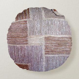 Almofada Redonda Artesanato de couro original do tapete