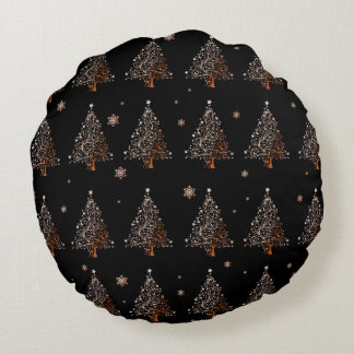 Almofada Redonda Árvore de Natal - teste padrão
