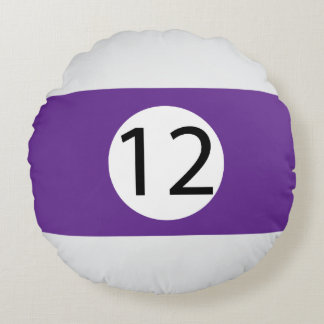 Almofada Redonda As bolas #12 do sólido e da listra de bilhar