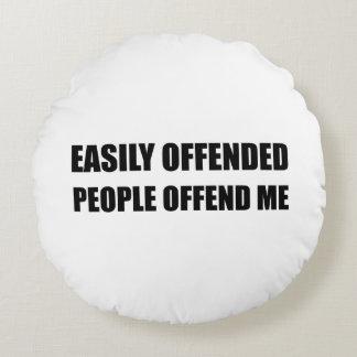 Almofada Redonda As pessoas facilmente ofendidas ofendem-me