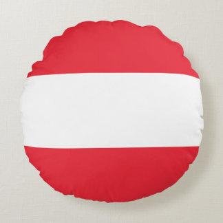 Almofada Redonda Bandeira austríaca patriótica