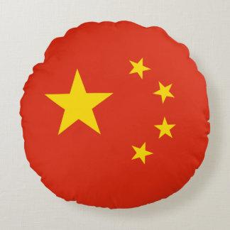 Almofada Redonda Bandeira chinesa patriótica