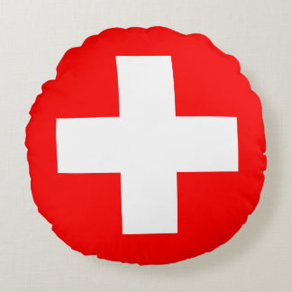 Almofada Redonda Bandeira da suiça