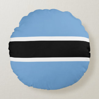 Almofada Redonda Bandeira de Botswana
