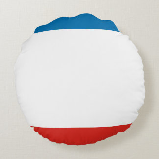 Almofada Redonda Bandeira de Crimeia