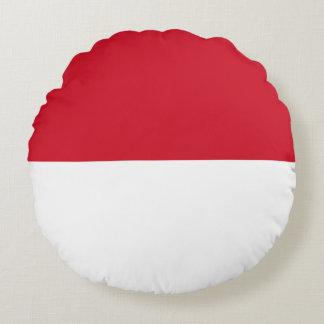 Almofada Redonda Bandeira de Monaco