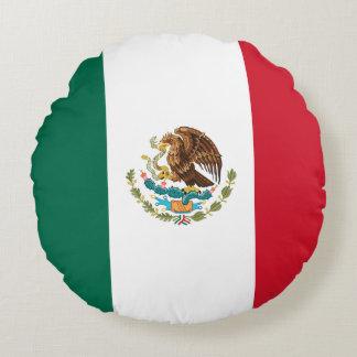 Almofada Redonda Bandeira mexicana patriótica
