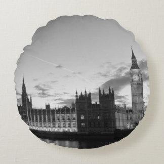 Almofada Redonda Big Ben reversível/travesseiro decorativo do mapa