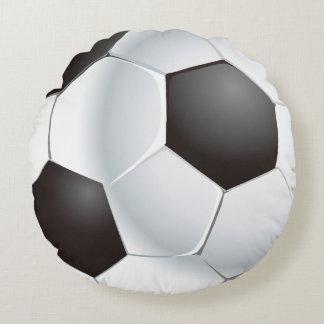 Almofada Redonda Bola de futebol do vetor