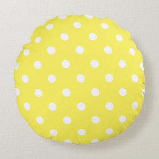 Almofada Redonda Bolinhas amarelas