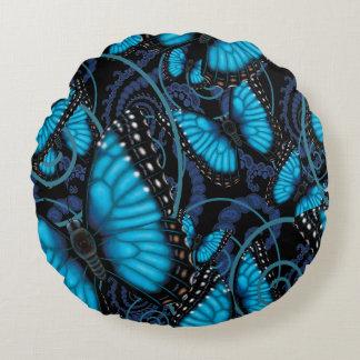 Almofada Redonda Borboletas azuis de Beaucoup Morpho