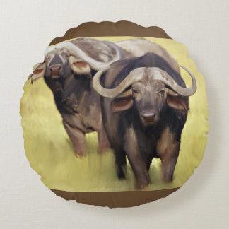 Almofada Redonda Búfalo africano