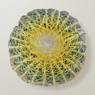 Almofada Redonda Cacto botânico incômodo engraçado do globo