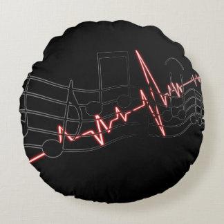 Almofada Redonda Canção, acordo e pulsação do coração da música