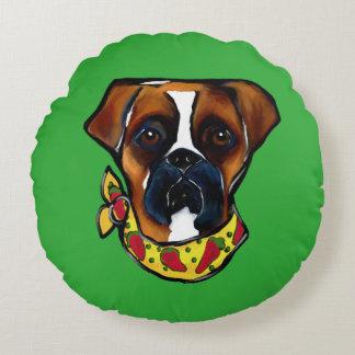 Almofada Redonda Cão Cinco de Mayo do pugilista
