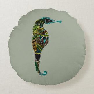 Almofada Redonda Cavalo marinho de néon