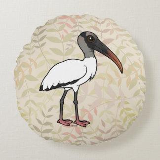 Almofada Redonda Cegonha de madeira de Birdorable