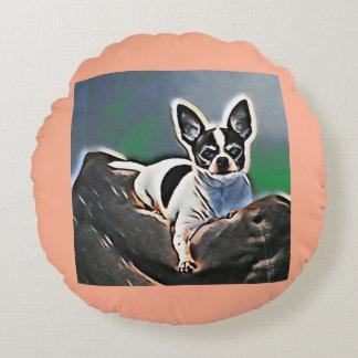 Almofada Redonda Chihula do cão de brinquedo da chihuahua