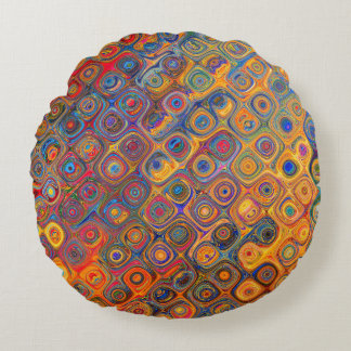 Almofada Redonda Círculos concêntricos