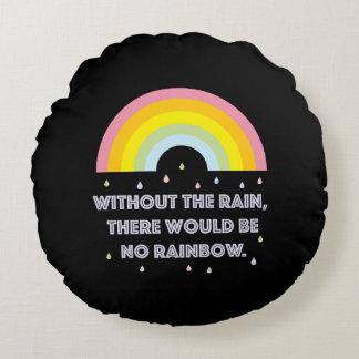 Almofada Redonda Citações inspiradas e inspiradores do arco-íris