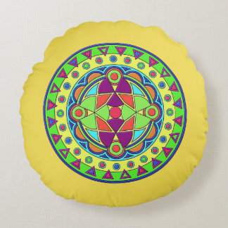 Almofada Redonda Cobrir ESCOVADO gravado do travesseiro decorativo