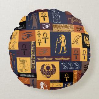 Almofada Redonda Colagem egípcia