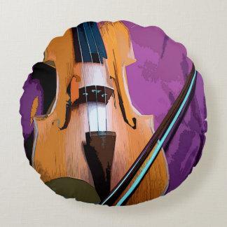 Almofada Redonda Colorido ilustrado em volta do travesseiro - viola