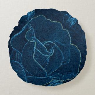 Almofada Redonda contorno do rosa do azul