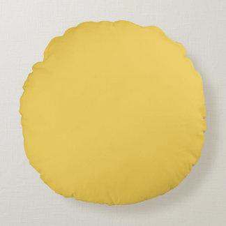 Almofada Redonda Cor amarela da prímula