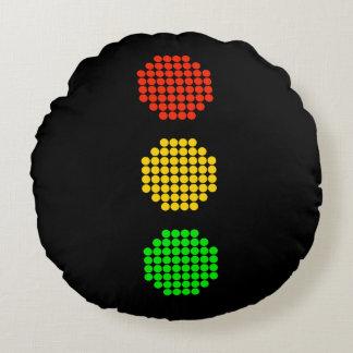 Almofada Redonda Cores do sinal de trânsito do ponto