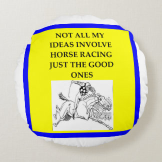 Almofada Redonda corrida de cavalos