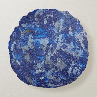 Almofada Redonda Cosmos azul #3