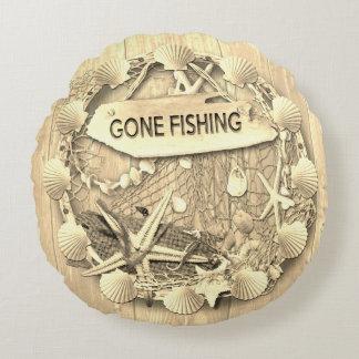 Almofada Redonda Coxim da pesca do vintage - pesca ida