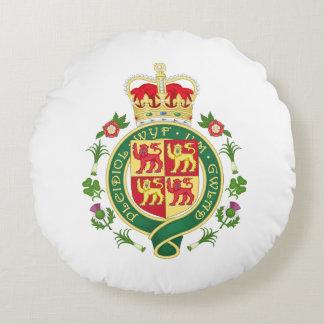 Almofada Redonda Crachá real de Wales