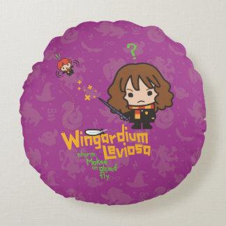 Almofada Redonda Desenhos animados Hermione e período de Ron