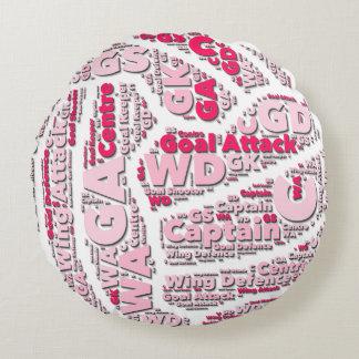 Almofada Redonda Design da bola das posições do Netball