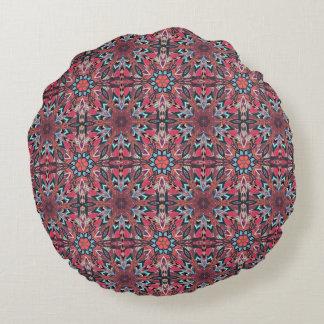 Almofada Redonda Design floral do teste padrão do abstrato da