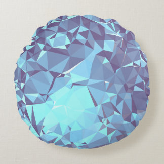 Almofada Redonda Design geométrico elegante & limpo - pombo em