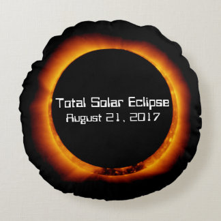 Almofada Redonda Eclipse 2017 solar total
