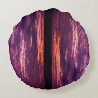 Almofada Redonda Esfera do pôr do sol