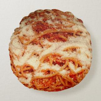 Almofada Redonda Espaguetes com travesseiro decorativo do queijo