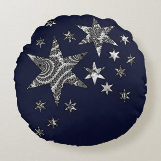 Almofada Redonda Estrelas da fantasia 3 D