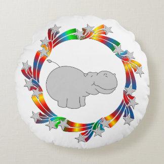 Almofada Redonda Estrelas do hipopótamo