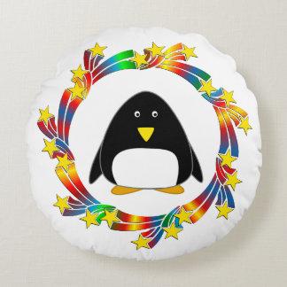 Almofada Redonda Estrelas do pinguim